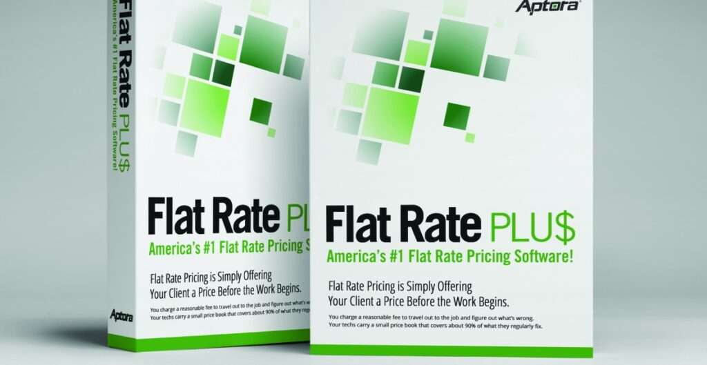 Software to create flat rate pricing books for HVAC, plumbing, and electrical service and replacement.