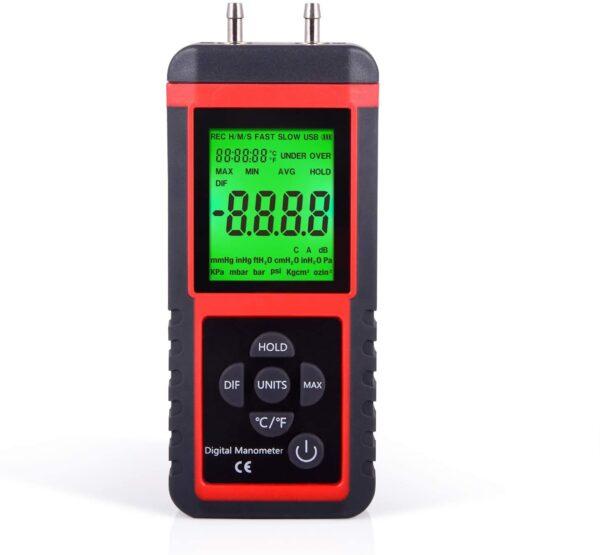 Manometer Gas Pressure Tester Digital Air Pressure Meter